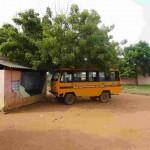 Der Schulbus macht auch Pause